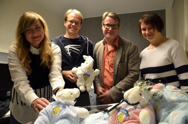 Kuvassa Jyväskylän tiimi. Vasemmalta Sonja Tiri, Jarmo Hämäläinen, Paavo Leppänen ja Svetlana Permi.